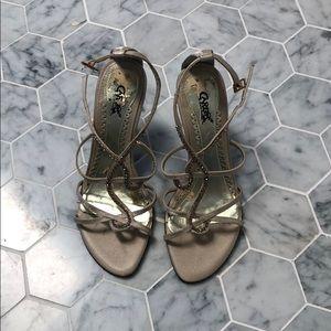 Carlos Santana Idol gold heels